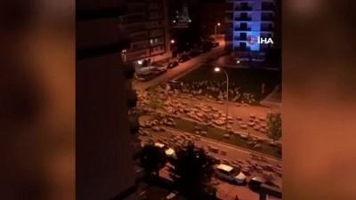 Samsun'da koyun sürüsü caddeye indi