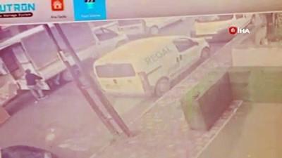 kamera -  Çöp atıyormuş gibi yaptı apartmandan 2 bin TL'lik ayakkabı çaldı
