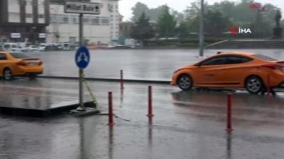 saganak yagis -  Kırıkkale'de şiddetli yağış etkili oldu