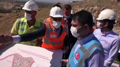 Bakan Kurum yapımı süren projeleri inceledi