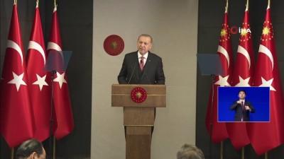 """Cumhurbaşkanı Erdoğan: """"Terör örgütünün ve rejimi onların hamiliğine soyunanlar kontrol edemeyecekse biz kendi gücümüzle yola getirmesini biliriz"""""""