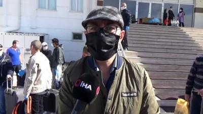 Karaman'da karantina süreci tamamlanan 154 kişi memleketlerine gönderildi