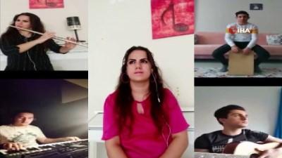 okul muduru -  Lise öğrencileri pandemi süreciyle ilgili şarkı besteledi
