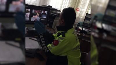 Polis memuru verdiği sözünü EBA üzerinden yerine getirdi