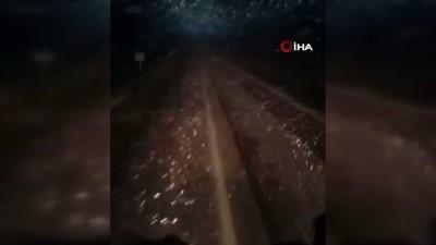 Tokat'ta mayıs ayında kar yağdı