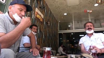 ocaklar -  Elazığ'da Sosyal mesafeli çay vakti