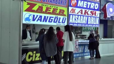Kayseri Şehirlerarası Otobüs Terminali kısıtlamanın kalkmasıyla hareketlendi