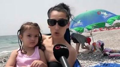 Kısıtlamanın kaldırılmasının ardından sahiller çocuklarla doldu