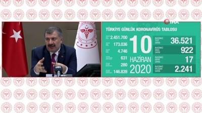 Sağlık Bakanı Fahrettin Koca, gazetecilerin sorularını yanıtladı