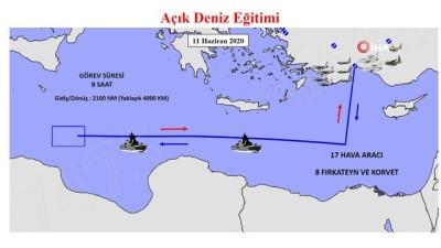 Hava ve Deniz Kuvvetlerimiz Akdeniz'de müşterek açık deniz eğitimi icra etti