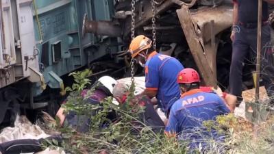 İki yük treni çarpışması - Kayıp personelin cenazesi çıkarıldı - MALATYA