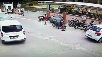 Kapkaç ve motosiklet hırsızlığı kamerada
