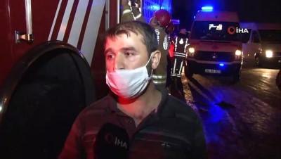 gorgu tanigi -  Başakşehir'de çöp kamyonu devrildi: 1 yaralı