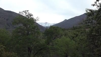 Erzincan'ın yüksek kesimleri haziranda beyaza büründü