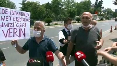 İşten çıkarılan İSPARK çalışanlarının İBB önündeki eyleminde gerginlik