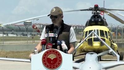 Tarım ve Orman Bakanı Bekir Pakdemirli, yangın uçağı tanıtım toplantısına katıldı