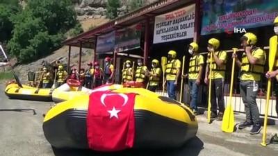 milli sporcu - Şırnak'ta sosyal mesafeli rafting organizasyonu