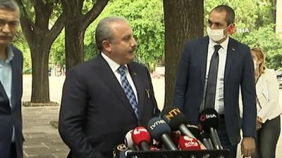TBMM Başkanı Şentop: 'Değerlendirmeler, istişareler yapıldı. Nihayetinde milletvekili arkadaşlarımızın da değerlendirmeleri neticesinde tekrar adaylık konusu netleşmiş oldu'