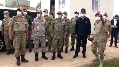 komando -  Bakan Akar ve komutanlar Namaz Dağı'nda incelemelerde bulundu