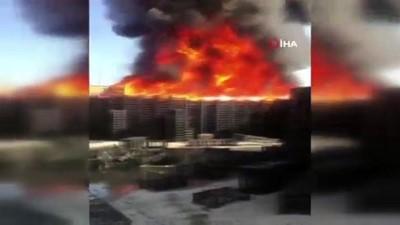 salar -  Halde kasalar yandı, dumanlar şehrin her noktasında görüldü