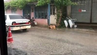 yagan -  Çanakkale'ye bilye büyüklüğünde dolu yağdı