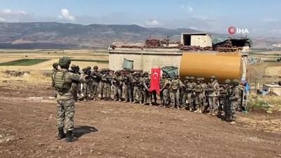 komando -  Suriye'de görevli askerler şehit babalarını unutmadı