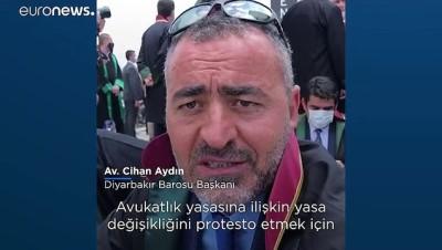 Baro başkanlarının yürüyüşüne Ankara girişinde polis engeli