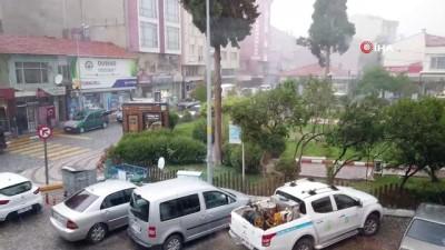yagan -  Dursunbey'de dolu yağışı etkili oldu