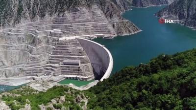 yagan -  Deriner Barajı yüzde 77 doluluk seviyesine ulaştı