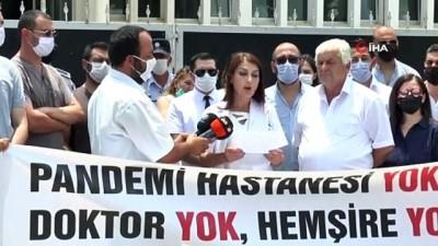 ziyaretciler -  - KKTC'de sağlık çalışanlarından Covid-19 eylemi