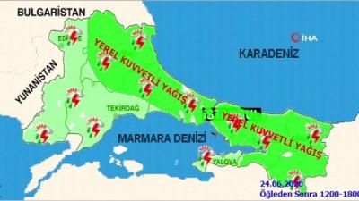 Meteoroloji'den İstanbul için kuvvetli yağış uyarısı
