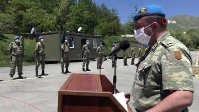Teröristlerin taciz ateşiyle şehit düşen Recep Durak için uğurlama töreni