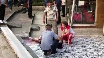 guvenlik kamerasi -  Bursa'da aşk dehşeti... Müdahaleye giden polis memurunun pompalı tüfekle yaralandığı olay anları kamerada