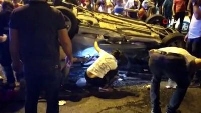 Fatih'te feci kaza: 1 kişi otomobilde sıkıştı