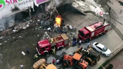 yangina mudahale -  AVM alev alev yanıyor... Batman'daki AVM yangınına itfaiye ekipleri ve tomalar müdahale ediyor