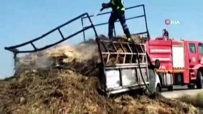 yangina mudahale -  Saman yüklü araç seyir halindeyken alev aldı