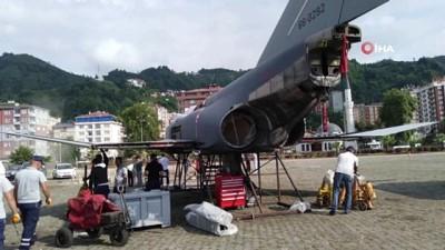 Türk Hava Kuvvetleri envanterinden geri çekilen F-4 Phantom- II savaş uçağı, Rize'ye getirildi