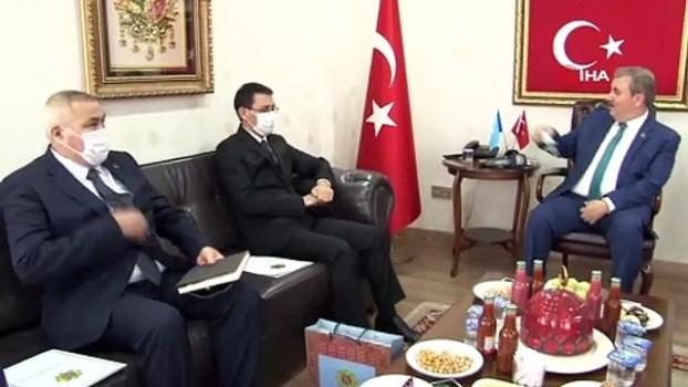 bagimsizlik -  Türkmenistan Büyükelçisi, BBP Başkanı Destici'yi ziyaret etti