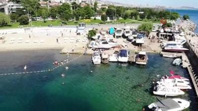 YKS için uygulanan kısıtlama sonrası Caddebostan Sahile akı ettiler