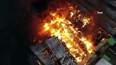 yangina mudahale -  Adana'da nişasta fabrikasında büyük yangın