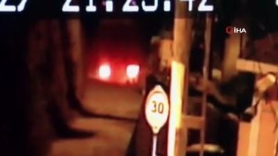 guvenlik kamerasi -  Sarıyer'de kamyonun şarampole uçma anı kamerada