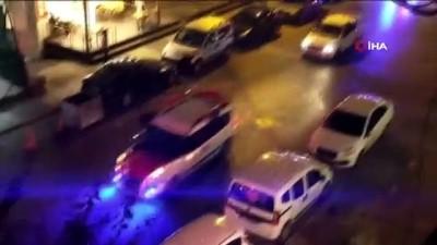 Trafiği tehlikeye sokan asker uğurlaması kamerada