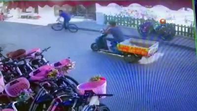 guvenlik kamerasi -  Büyükada'da lüks bisiklet hırsızlığı kamerada