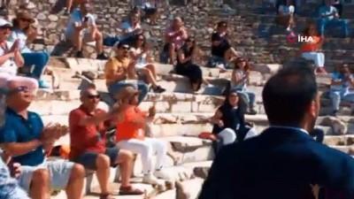 """""""Efes'e Hoş Geldiniz"""" tanıtım videosunun çekimleri tamamlandı"""
