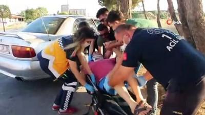 ilk mudahale -  Köpeğe çarpmak istemeyen sürücü ağaca çarptı: 2 yaralı