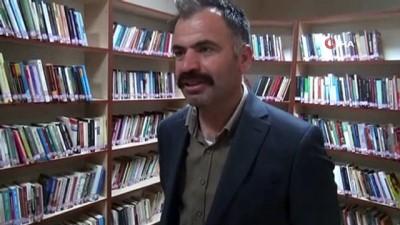 ders calis -  PKK'lı teröristlerin zarar verdiği kütüphane yeniden açıldı