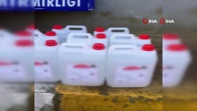 İstanbul'da kaçak içki operasyonu: 1137 litre etil alkol ele geçirildi