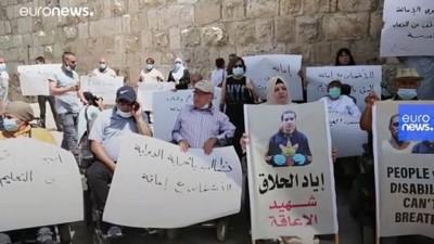 Filistin'de engelliler otizmli İyad Hallak'ın polis şiddetiyle öldürülmesini protesto etti