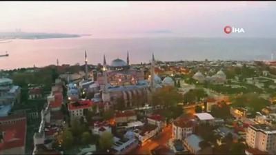sosyal medya -  Bakan Ersoy'dan Ayasofya paylaşımı