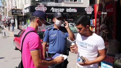 saglik gorevlisi -  Karaman'da maske takmayan ve sosyal mesafeye uymayan 41 kişiye tutanak tutuldu